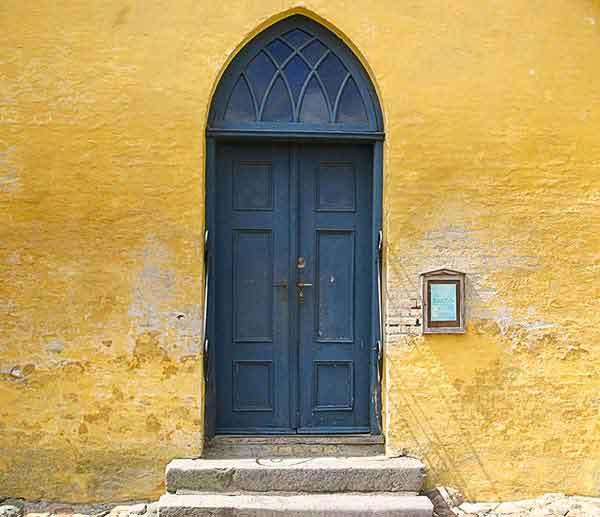 Døren til Fåborg kirke